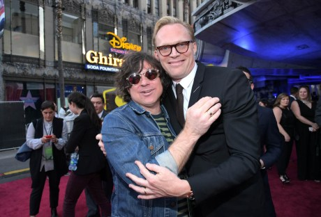 HOLLYWOOD, CA - MAY 10: Ryan Adams (L) and actor Paul Bettany attend the world premiere of ìSolo: A Star Wars Storyî in Hollywood on May 10, 2018. (Photo by Charley Gallay/Getty Images for Disney) *** Local Caption *** Paul Bettany; Ryan Adams