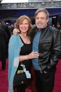 "Marilou York and Mark Hamill attend the world premiere of ""Solo: A Star Wars Story"" in Hollywood on May 10, 2018. (Photo: Alex J. Berliner/ABImages)"