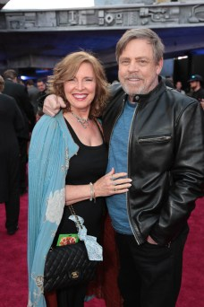 """Marilou York and Mark Hamill attend the world premiere of """"Solo: A Star Wars Story"""" in Hollywood on May 10, 2018. (Photo: Alex J. Berliner/ABImages)"""