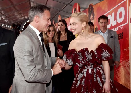 HOLLYWOOD, CA - MAY 10: President, Marketing, The Walt Disney Studios, Ricky Strauss (L) and actor Emilia Clarke attend the world premiere of ìSolo: A Star Wars Storyî in Hollywood on May 10, 2018. (Photo by Alberto E. Rodriguez/Getty Images for Disney) *** Local Caption *** Ricky Strauss; Emilia Clarke