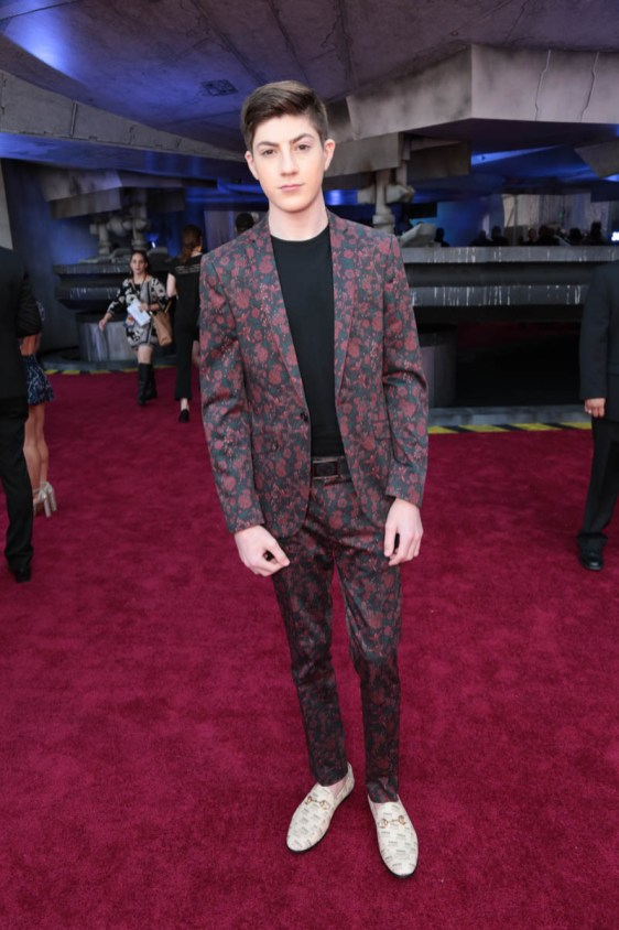 """Mason Cook attends the world premiere of """"Solo: A Star Wars Story"""" in Hollywood on May 10, 2018. (Photo: Alex J. Berliner/ABImages)"""