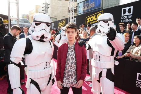 """Joshua Rush attends the world premiere of """"Solo: A Star Wars Story"""" in Hollywood on May 10, 2018. (Photo: Alex J. Berliner/ABImages)"""