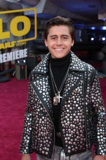 """Isaak Presley attends the world premiere of """"Solo: A Star Wars Story"""" in Hollywood on May 10, 2018. (Photo: Alex J. Berliner/ABImages)"""
