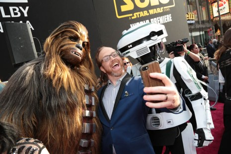 "Ptolemy Slocum attends the world premiere of ""Solo: A Star Wars Story"" in Hollywood on May 10, 2018. (Photo: Alex J. Berliner/ABImages)"