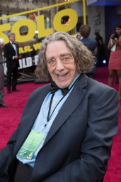 """Peter Mayhew attends the world premiere of """"Solo: A Star Wars Story"""" in Hollywood on May 10, 2018..(Photo: Alex J. Berliner/ABImages)."""