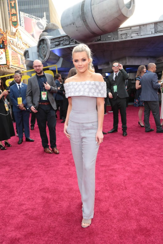 """Witney Carson attends the world premiere of """"Solo: A Star Wars Story"""" in Hollywood on May 10, 2018. (Photo: Alex J. Berliner/ABImages)"""