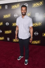HOLLYWOOD, CA - MAY 10: Isaiah Mustafa attends the world premiere of ìSolo: A Star Wars Storyî in Hollywood on May 10, 2018. (Photo by Alberto E. Rodriguez/Getty Images for Disney) *** Local Caption *** Isaiah Mustafa