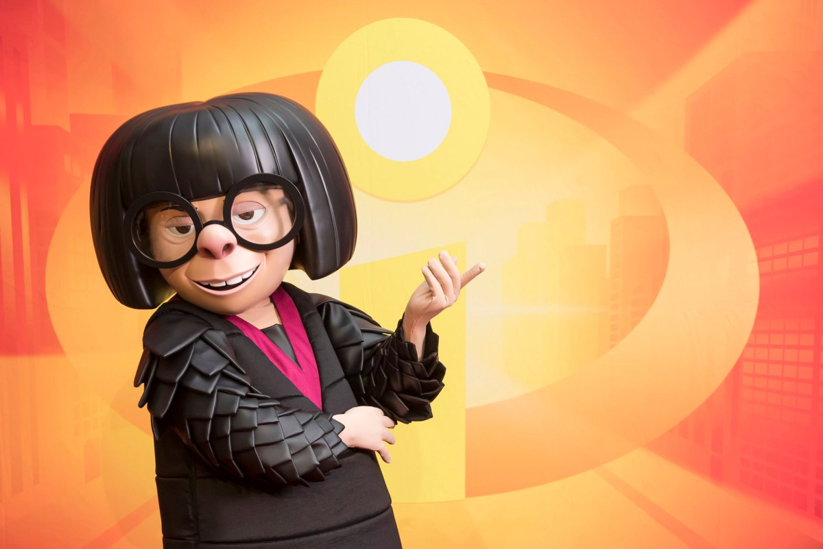 Edna Mode Arrives At Pixar Pier at the Disneyland Resort