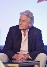 "LOS ANGELES, CA - JUNE 24: Michael Douglas speaks onstage at Marvel Studios' ""Ant-Man And The Wasp"" Global Junket Press Conference on June 24, 2018 in Los Angeles, United States. (Photo by Alberto E. Rodriguez/Getty Images for Disney) *** Local Caption *** Michael Douglas"