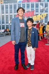 "HOLLYWOOD, CA - JUNE 25: Forrest Wheeler (L) and Ian Chen attend the Los Angeles Global Premiere for Marvel Studios' ""Ant-Man And The Wasp"" at the El Capitan Theatre on June 25, 2018 in Hollywood, California. (Photo by Alberto E. Rodriguez/Getty Images for Disney) *** Local Caption *** Forrest Wheeler; Ian Chen"
