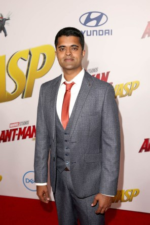 """HOLLYWOOD, CA - JUNE 25: Actor Divian Ladwa attends the Los Angeles Global Premiere for Marvel Studios' """"Ant-Man And The Wasp"""" at the El Capitan Theatre on June 25, 2018 in Hollywood, California. (Photo by Jesse Grant/Getty Images for Disney) *** Local Caption *** Divian Ladwa"""