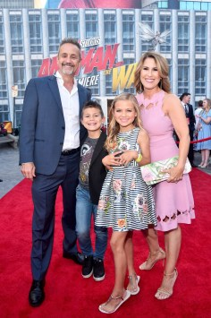 """HOLLYWOOD, CA - JUNE 25: Co-producer Mitchell Bell (L) and family attend the Los Angeles Global Premiere for Marvel Studios' """"Ant-Man And The Wasp"""" at the El Capitan Theatre on June 25, 2018 in Hollywood, California. (Photo by Alberto E. Rodriguez/Getty Images for Disney) *** Local Caption *** Mitchell Bell"""