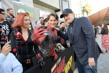 """HOLLYWOOD, CA - JUNE 25: Producer Kevin Feige attends the Los Angeles Global Premiere for Marvel Studios' """"Ant-Man And The Wasp"""" at the El Capitan Theatre on June 25, 2018 in Hollywood, California. (Photo by Charley Gallay/Getty Images for Disney) *** Local Caption *** Kevin Feige"""