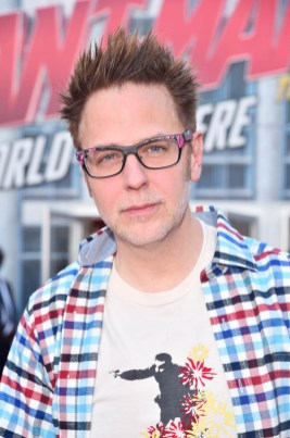 "HOLLYWOOD, CA - JUNE 25: James Gunn attends the Los Angeles Global Premiere for Marvel Studios' ""Ant-Man And The Wasp"" at the El Capitan Theatre on June 25, 2018 in Hollywood, California. (Photo by Alberto E. Rodriguez/Getty Images for Disney) *** Local Caption *** James Gunn"