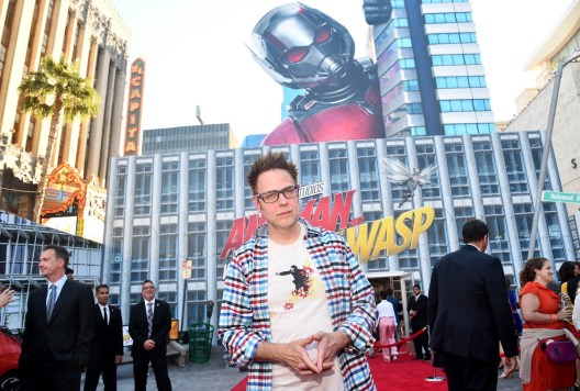 """HOLLYWOOD, CA - JUNE 25: James Gunn attends the Los Angeles Global Premiere for Marvel Studios' """"Ant-Man And The Wasp"""" at the El Capitan Theatre on June 25, 2018 in Hollywood, California. (Photo by Alberto E. Rodriguez/Getty Images for Disney) *** Local Caption *** James Gunn"""
