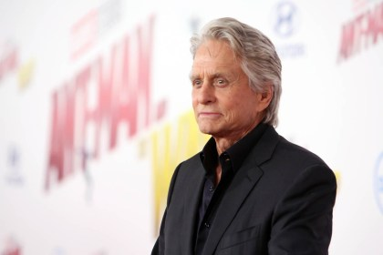 """HOLLYWOOD, CA - JUNE 25: Actor Michael Douglas attends the Los Angeles Global Premiere for Marvel Studios' """"Ant-Man And The Wasp"""" at the El Capitan Theatre on June 25, 2018 in Hollywood, California. (Photo by Jesse Grant/Getty Images for Disney) *** Local Caption *** Michael Douglas"""