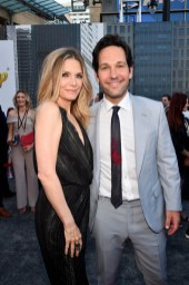 "HOLLYWOOD, CA - JUNE 25: Actors Michelle Pfeiffer (L) and Paul Rudd attend the Los Angeles Global Premiere for Marvel Studios' ""Ant-Man And The Wasp"" at the El Capitan Theatre on June 25, 2018 in Hollywood, California. (Photo by Alberto E. Rodriguez/Getty Images for Disney) *** Local Caption *** Michelle Pfeiffer; Paul Rudd"
