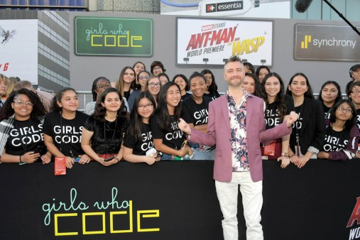 """HOLLYWOOD, CA - JUNE 25: Sean Gunn and Girls Who Code attend the Los Angeles Global Premiere for Marvel Studios' """"Ant-Man And The Wasp"""" at the El Capitan Theatre on June 25, 2018 in Hollywood, California. (Photo by Charley Gallay/Getty Images for Disney) *** Local Caption *** Sean Gunn"""