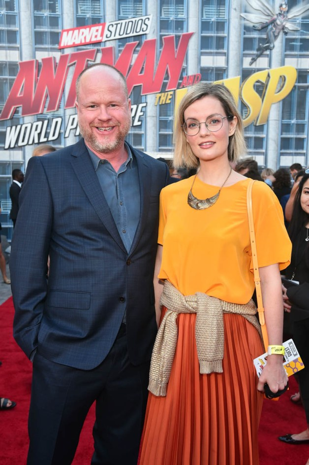 "HOLLYWOOD, CA - JUNE 25: Joss Whedon (L) and Siobhan Thompson attend the Los Angeles Global Premiere for Marvel Studios' ""Ant-Man And The Wasp"" at the El Capitan Theatre on June 25, 2018 in Hollywood, California. (Photo by Alberto E. Rodriguez/Getty Images for Disney) *** Local Caption *** Joss Whedon; Siobhan Thompson"