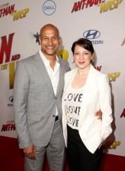 "HOLLYWOOD, CA - JUNE 25: Keegan-Michael Key (L) and Cynthia Blaise attend the Los Angeles Global Premiere for Marvel Studios' ""Ant-Man And The Wasp"" at the El Capitan Theatre on June 25, 2018 in Hollywood, California. (Photo by Jesse Grant/Getty Images for Disney) *** Local Caption *** Cynthia Blaise; Keegan-Michael Key"