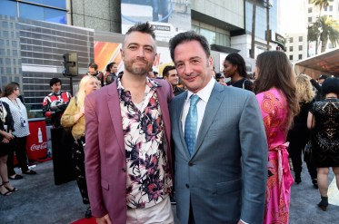 "HOLLYWOOD, CA - JUNE 25: Sean Gunn (L) and Executive producer Louis D'Esposito attend the Los Angeles Global Premiere for Marvel Studios' ""Ant-Man And The Wasp"" at the El Capitan Theatre on June 25, 2018 in Hollywood, California. (Photo by Alberto E. Rodriguez/Getty Images for Disney) *** Local Caption *** Sean Gunn; Louis D'Esposito"