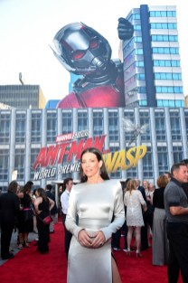 "HOLLYWOOD, CA - JUNE 25: Actor Evangeline Lilly attends the Los Angeles Global Premiere for Marvel Studios' ""Ant-Man And The Wasp"" at the El Capitan Theatre on June 25, 2018 in Hollywood, California. (Photo by Alberto E. Rodriguez/Getty Images for Disney) *** Local Caption *** Evangeline Lilly"