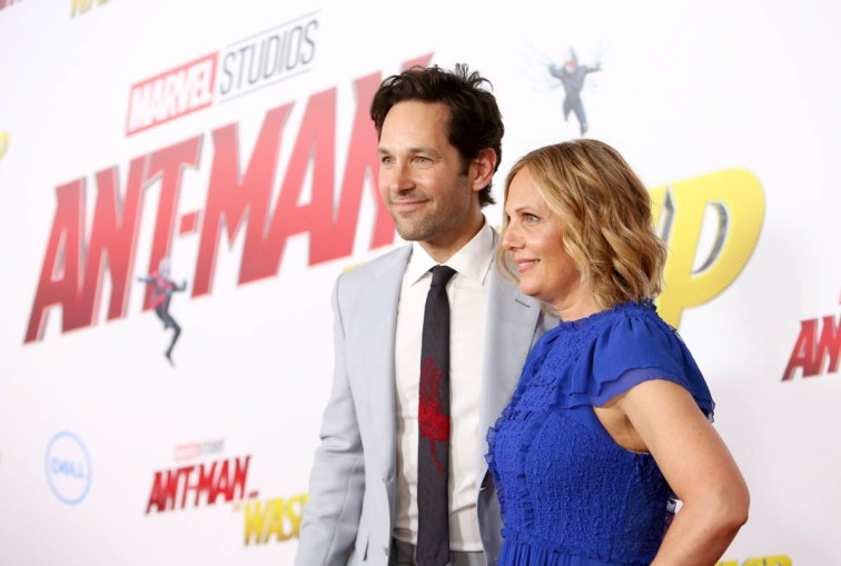 "HOLLYWOOD, CA - JUNE 25: Actor Paul Rudd (L) and producer Julie Yaeger attend the Los Angeles Global Premiere for Marvel Studios' ""Ant-Man And The Wasp"" at the El Capitan Theatre on June 25, 2018 in Hollywood, California. (Photo by Jesse Grant/Getty Images for Disney) *** Local Caption *** Paul Rudd; Julie Yaeger"