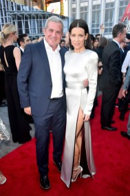"""HOLLYWOOD, CA - JUNE 25: Executive producer Charles Newirth (L) and actor Evangeline Lilly attend the Los Angeles Global Premiere for Marvel Studios' """"Ant-Man And The Wasp"""" at the El Capitan Theatre on June 25, 2018 in Hollywood, California. (Photo by Alberto E. Rodriguez/Getty Images for Disney) *** Local Caption *** Charles Newirth; Evangeline Lilly"""