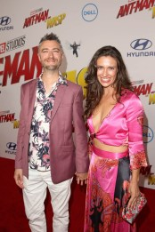 "HOLLYWOOD, CA - JUNE 25: Sean Gunn (L) and Natasha Halevi attend the Los Angeles Global Premiere for Marvel Studios' ""Ant-Man And The Wasp"" at the El Capitan Theatre on June 25, 2018 in Hollywood, California. (Photo by Jesse Grant/Getty Images for Disney) *** Local Caption *** Natasha Halevi; Sean Gunn"