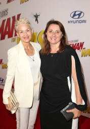 "HOLLYWOOD, CA - JUNE 25: Imelda Corcoran (L) and Executive Producer Victoria Alonso attend the Los Angeles Global Premiere for Marvel Studios' ""Ant-Man And The Wasp"" at the El Capitan Theatre on June 25, 2018 in Hollywood, California. (Photo by Jesse Grant/Getty Images for Disney) *** Local Caption *** Imelda Corcoran; Victoria Alonso"