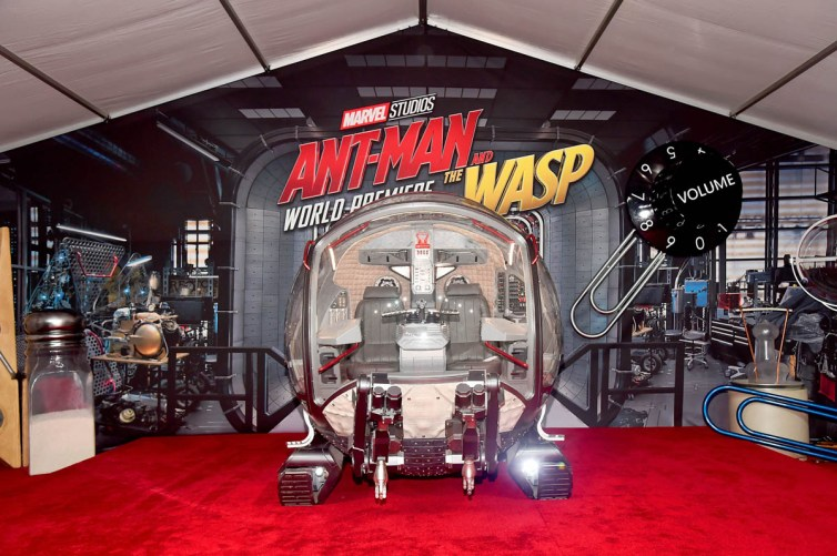 "HOLLYWOOD, CA - JUNE 25: A view of the atmosphere at the Los Angeles Global Premiere for Marvel Studios' ""Ant-Man And The Wasp"" at the El Capitan Theatre on June 25, 2018 in Hollywood, California. (Photo by Alberto E. Rodriguez/Getty Images for Disney)"