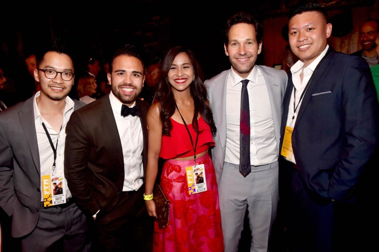 "HOLLYWOOD, CA - JUNE 25: Actor Paul Rudd and charity winners attend the Los Angeles Global Premiere for Marvel Studios' ""Ant-Man And The Wasp"" at the El Capitan Theatre on June 25, 2018 in Hollywood, California. (Photo by Alberto E. Rodriguez/Getty Images for Disney) *** Local Caption *** Paul Rudd"