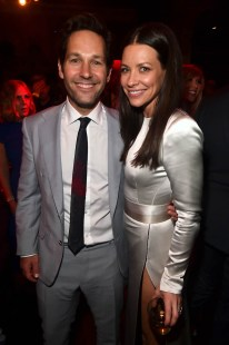 "HOLLYWOOD, CA - JUNE 25: Actors Paul Rudd (L) and Evangeline Lilly attend the Los Angeles Global Premiere for Marvel Studios' ""Ant-Man And The Wasp"" at the El Capitan Theatre on June 25, 2018 in Hollywood, California. (Photo by Alberto E. Rodriguez/Getty Images for Disney) *** Local Caption *** Paul Rudd; Evangeline Lilly"