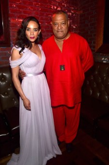 """HOLLYWOOD, CA - JUNE 25: Actors Hannah John-Kamen (L) and Laurence Fishburne attend the Los Angeles Global Premiere for Marvel Studios' """"Ant-Man And The Wasp"""" at the El Capitan Theatre on June 25, 2018 in Hollywood, California. (Photo by Alberto E. Rodriguez/Getty Images for Disney) *** Local Caption *** Hannah John-Kamen; Laurence Fishburne"""