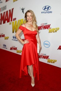 """HOLLYWOOD, CA - JUNE 25: Ingrid Kleinig attends the Los Angeles Global Premiere for Marvel Studios' """"Ant-Man And The Wasp"""" at the El Capitan Theatre on June 25, 2018 in Hollywood, California. (Photo by Jesse Grant/Getty Images for Disney) *** Local Caption *** Ingrid Kleinig"""