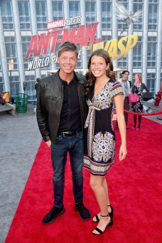 """HOLLYWOOD, CA - JUNE 25: Rob Liefeld (L) and guest attend the Los Angeles Global Premiere for Marvel Studios' """"Ant-Man And The Wasp"""" at the El Capitan Theatre on June 25, 2018 in Hollywood, California. (Photo by Alberto E. Rodriguez/Getty Images for Disney) *** Local Caption *** Rob Liefeld"""