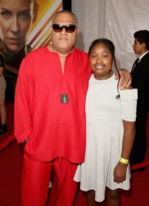 "HOLLYWOOD, CA - JUNE 25: Actor Laurence Fishburne and guest attend the Los Angeles Global Premiere for Marvel Studios' ""Ant-Man And The Wasp"" at the El Capitan Theatre on June 25, 2018 in Hollywood, California. (Photo by Jesse Grant/Getty Images for Disney) *** Local Caption *** Laurence Fishburne"