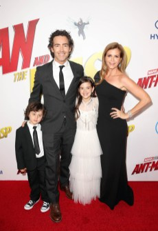 """HOLLYWOOD, CA - JUNE 25: (L-R) Joshua Taylor Fortson, John Fortson, Actor Abby Ryder Fortson, and Christie Lynn Smith attend the Los Angeles Global Premiere for Marvel Studios' """"Ant-Man And The Wasp"""" at the El Capitan Theatre on June 25, 2018 in Hollywood, California. (Photo by Jesse Grant/Getty Images for Disney) *** Local Caption *** Abby Ryder Fortson; Christie Lynn Smith; John Fortson; Joshua Taylor Fortson"""