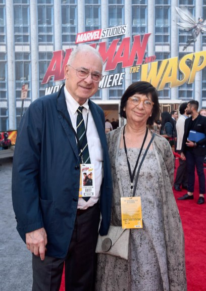 """HOLLYWOOD, CA - JUNE 25: Cinematographer Dante Spinotti (L) and guest attend the Los Angeles Global Premiere for Marvel Studios' """"Ant-Man And The Wasp"""" at the El Capitan Theatre on June 25, 2018 in Hollywood, California. (Photo by Alberto E. Rodriguez/Getty Images for Disney) *** Local Caption *** Dante Spinotti"""