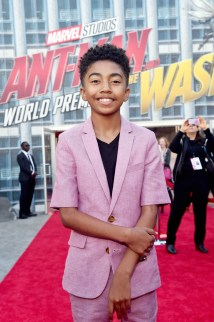 "HOLLYWOOD, CA - JUNE 25: Miles Brown attends the Los Angeles Global Premiere for Marvel Studios' ""Ant-Man And The Wasp"" at the El Capitan Theatre on June 25, 2018 in Hollywood, California. (Photo by Alberto E. Rodriguez/Getty Images for Disney) *** Local Caption *** Miles Brown"
