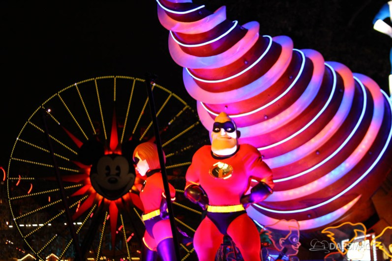 Pixar Pier Media Event - Paint the Night with Incredibles Float-53