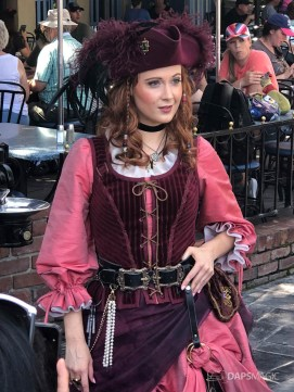 Redd the Pirate in New Orleans Square at Disneyland-9