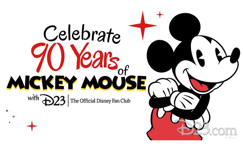 celebrating 90 years of mickey mouse with d23 the official disney fan club