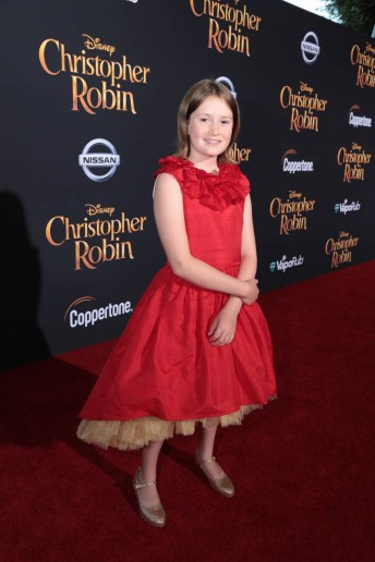 """Bronte Carmichael attends the world premiere of Disney's """"Christopher Robin"""" at the Main Theater on the Walt Disney Studios lot in Burbank, CA on July 30, 2018. (Photo: Alex J. Berliner/ABImages)"""
