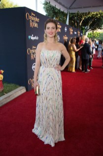 """Hayley Atwell attends the world premiere of Disney's """"Christopher Robin"""" at the Main Theater on the Walt Disney Studios lot in Burbank, CA on July 30, 2018. (Photo: Alex J. Berliner/ABImages)"""