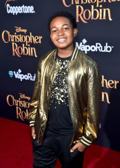 BURBANK, CA - JULY 30: Issac Brown attends the world premiere of Disney's 'Christopher Robin' at the Main Theater on the Walt Disney Studios lot in Burbank, CA on July 30, 2018. (Photo by Alberto E. Rodriguez/Getty Images for Disney) *** Local Caption *** Issac Brown