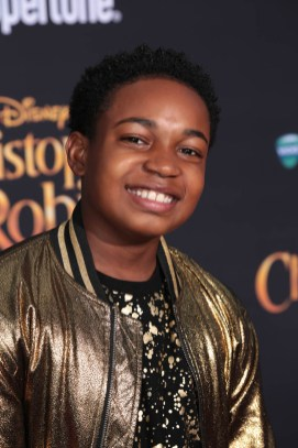 """Isaac Brown attends the world premiere of Disney's """"Christopher Robin"""" at the Main Theater on the Walt Disney Studios lot in Burbank, CA on July 30, 2018. (Photo: Alex J. Berliner/ABImages)"""