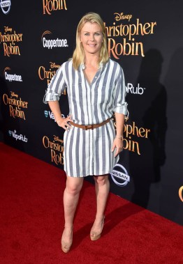 BURBANK, CA - JULY 30: Alison Sweeney attends the world premiere of Disney's 'Christopher Robin' at the Main Theater on the Walt Disney Studios lot in Burbank, CA on July 30, 2018. (Photo by Alberto E. Rodriguez/Getty Images for Disney) *** Local Caption *** Alison Sweeney