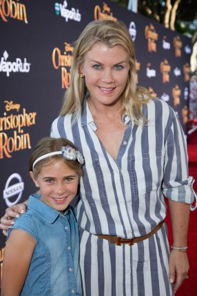"Megan Sanov and Alison Sweeney attend the world premiere of Disney's ""Christopher Robin"" at the Main Theater on the Walt Disney Studios lot in Burbank, CA on July 30, 2018. (Photo: Alex J. Berliner/ABImages)"