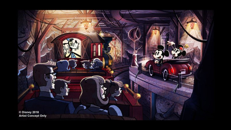 Mickey & Minnie's Runaway Railway Concept Art